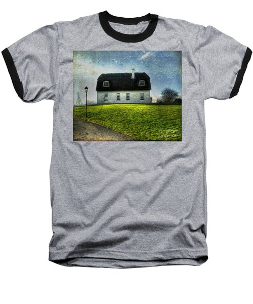 Irish Thatched Roofed Home Baseball T-Shirt by Juli Scalzi