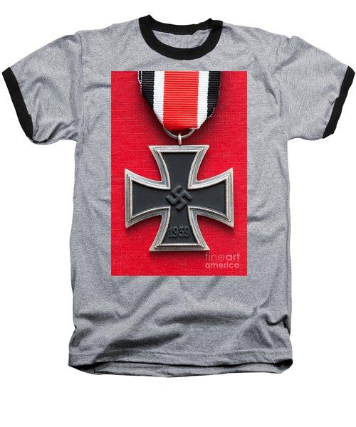 Iron Cross Medal Baseball T-Shirt by Lee Avison