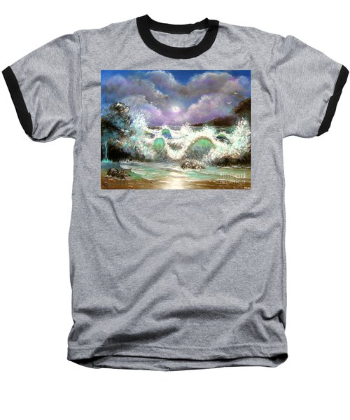 Baseball T-Shirt featuring the painting Irresistible Force  by Patrice Torrillo