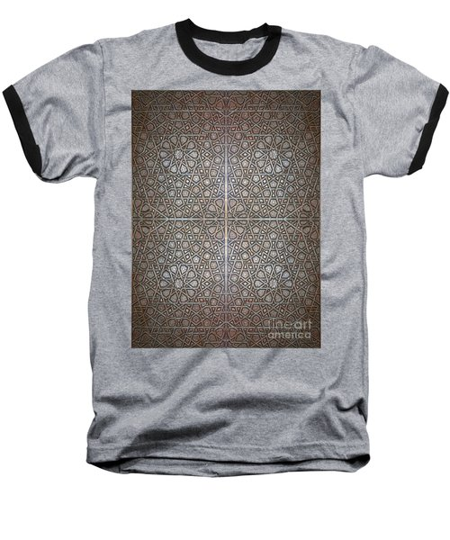 Islamic Wooden Texture Baseball T-Shirt