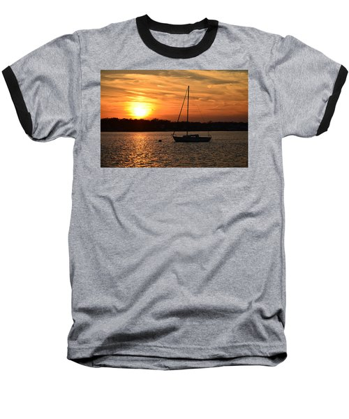 Baseball T-Shirt featuring the photograph Island Heights Sunset by Brian Hughes
