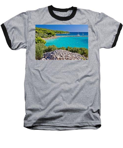 Island Murter Turquoise Lagoon Beach Baseball T-Shirt