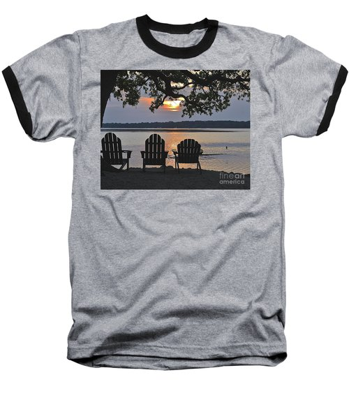 Island Time Baseball T-Shirt by Carol  Bradley
