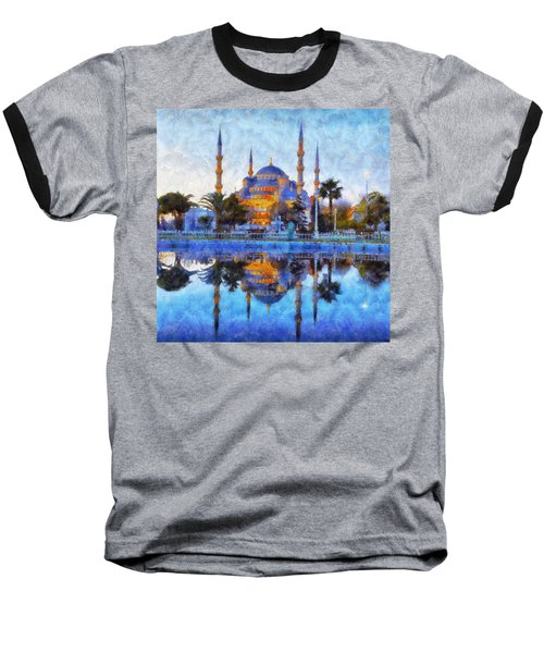 Istanbul Blue Mosque  Baseball T-Shirt by Lilia D