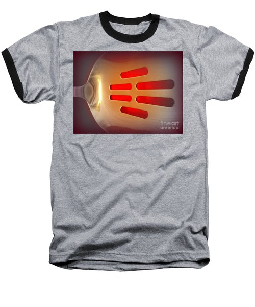 It Glows Baseball T-Shirt by Clare Bevan