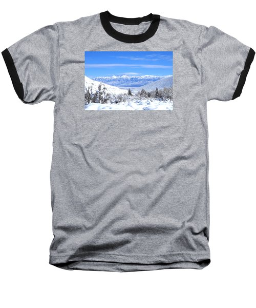Baseball T-Shirt featuring the photograph It Snowed by Marilyn Diaz