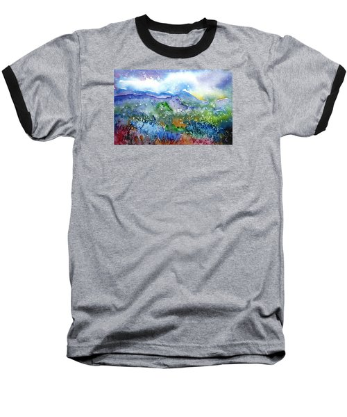 It Sometimes Rains In Tuscany Too  Baseball T-Shirt by Trudi Doyle
