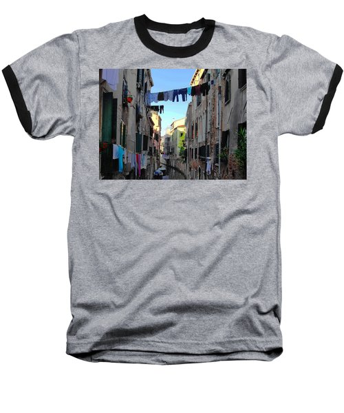 Italian Clotheslines Baseball T-Shirt by Natalie Ortiz