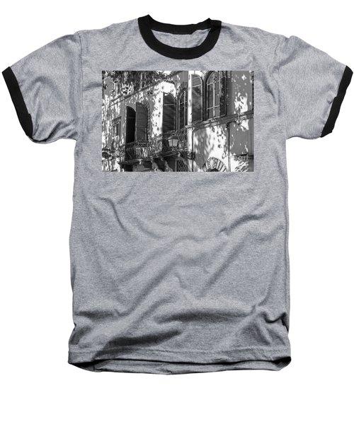 Italian Facade In Bw Baseball T-Shirt