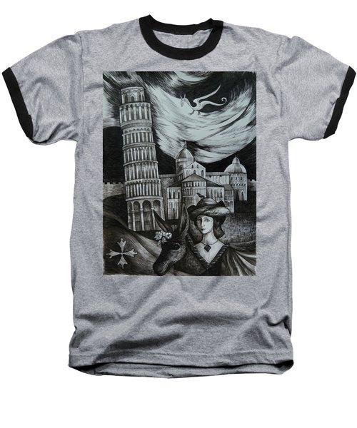 Italian Fantasies. Pisa Baseball T-Shirt by Anna  Duyunova