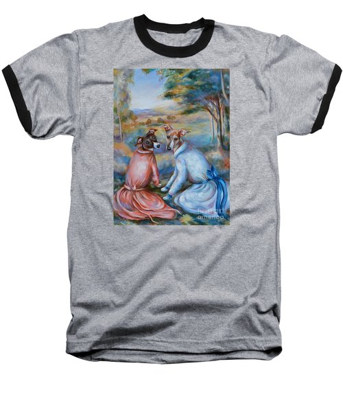 Italian Greyhounds Renoir Style Baseball T-Shirt