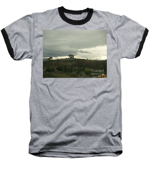 Baseball T-Shirt featuring the photograph Italian Hillside by Robin Maria Pedrero
