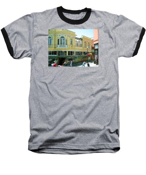 Italian Town In San Francisco Baseball T-Shirt by Connie Fox