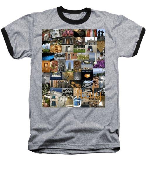 Italy Poster Baseball T-Shirt