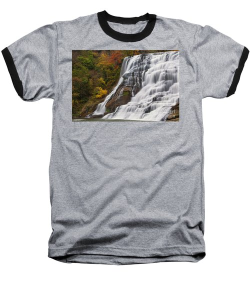 Ithaca Falls In Autumn Baseball T-Shirt