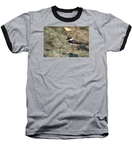 Its A Killdeer Babe Baseball T-Shirt by Skip Willits