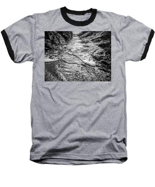 It's A Rush Browns Beach  Baseball T-Shirt by Roxy Hurtubise