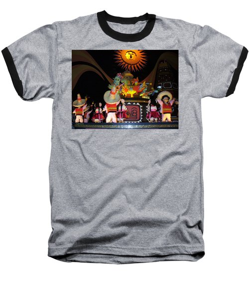 It's A Small World With Dancing Mexican Character Baseball T-Shirt