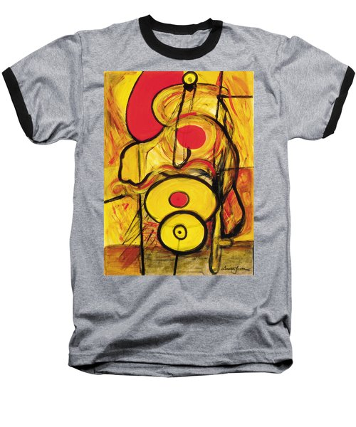Baseball T-Shirt featuring the painting It's All Relative by Stephen Lucas