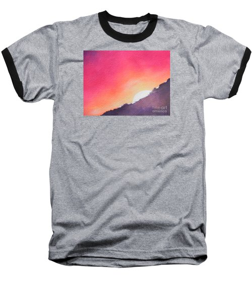 Baseball T-Shirt featuring the painting It's Not About The Climb  Rather What Awaits You On The Other Side by Chrisann Ellis
