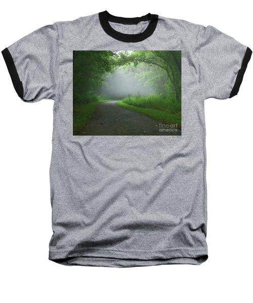Mystery Walk Baseball T-Shirt by Douglas Stucky
