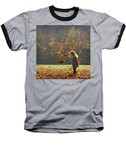 It's Raining Leaves Baseball T-Shirt