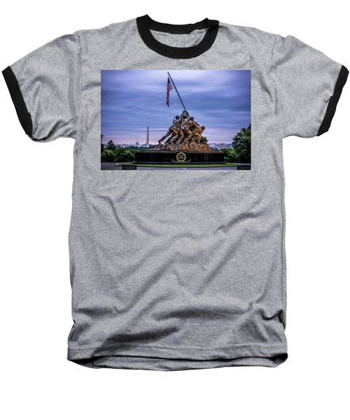 Iwo Jima Monument Baseball T-Shirt