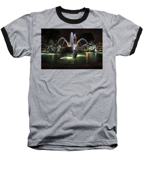 J C Nichols Fountain Baseball T-Shirt