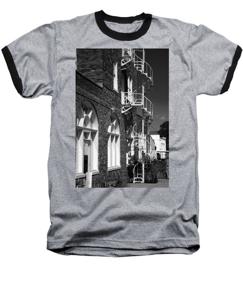 Jacaranda Hotel Fire Escape Baseball T-Shirt