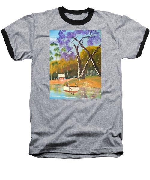 Baseball T-Shirt featuring the painting Jacaranda Tree by Pamela  Meredith