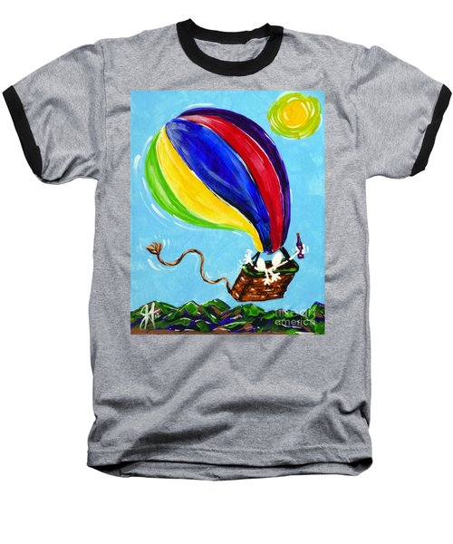 Baseball T-Shirt featuring the painting Jack And Charlie Fly Away by Jackie Carpenter