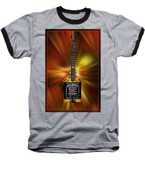 Jack Daniels Whiskey Guitar Baseball T-Shirt