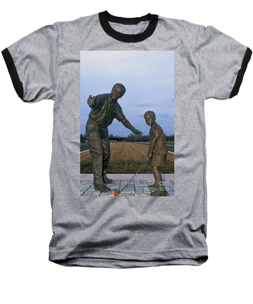 36u-245 Jack Nicklaus Sculpture Photo Baseball T-Shirt