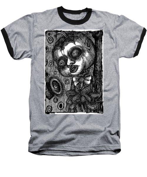 Jack O Lantern Baseball T-Shirt by Akiko Okabe