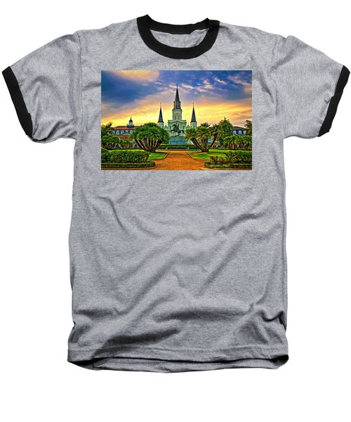 Jackson Square Evening - Paint Baseball T-Shirt