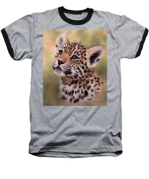 Jaguar Cub Painting Baseball T-Shirt
