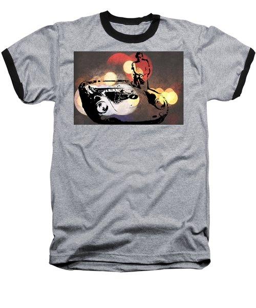 James Dean And Little Bastard Baseball T-Shirt