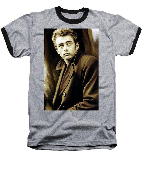 James Dean Artwork Baseball T-Shirt