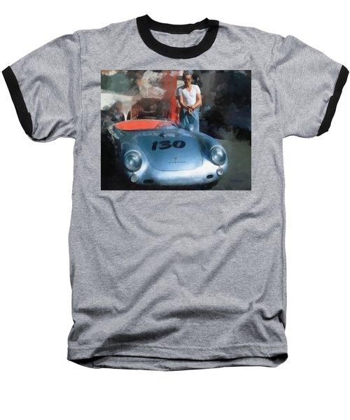 James Dean With His Spyder Baseball T-Shirt