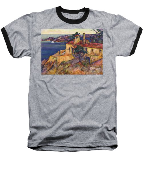 James House Carmel Highlands California By Rowena Meeks Abdy 1887-1945  Baseball T-Shirt by California Views Mr Pat Hathaway Archives