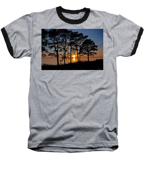 James River Sunset Baseball T-Shirt by Suzanne Stout