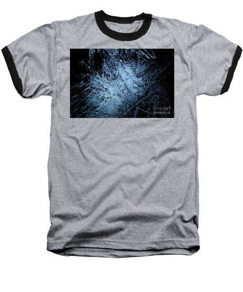 Baseball T-Shirt featuring the photograph jammer Frozen Cosmos by First Star Art