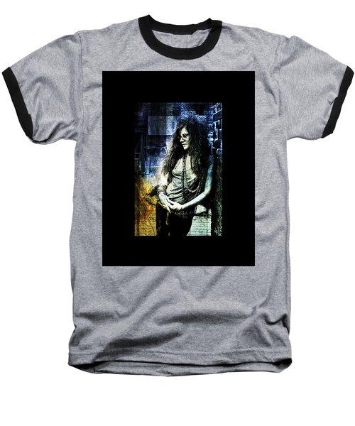 Janis Joplin - Blue Baseball T-Shirt