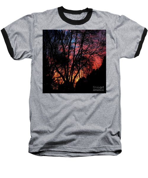 Baseball T-Shirt featuring the photograph January Dawn by Luther Fine Art