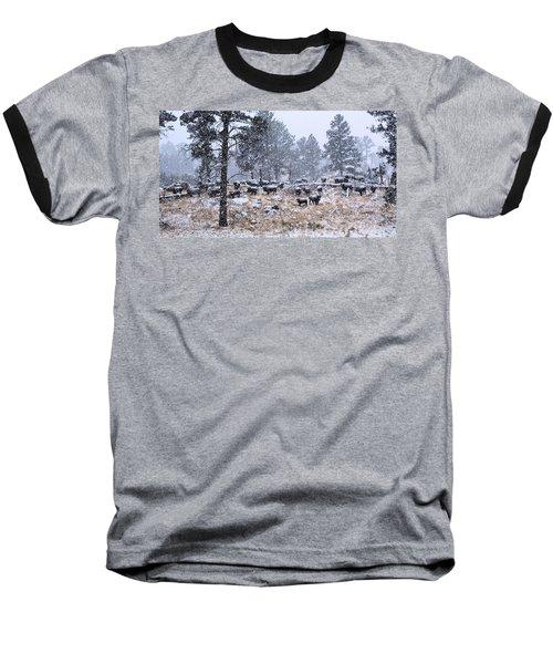January Snow Baseball T-Shirt