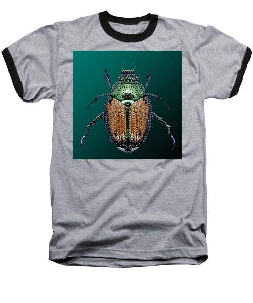 Japanese Beetle Bedazzled II Baseball T-Shirt