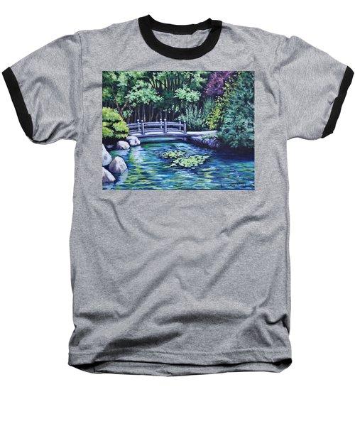 Japanese Garden Bridge San Francisco California Baseball T-Shirt