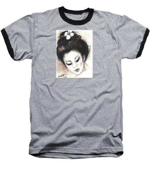 Japanese Girl. Baseball T-Shirt by Francine Heykoop