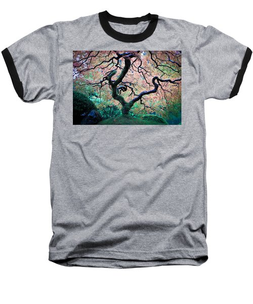 Japanese Maple In Autumn Baseball T-Shirt by Athena Mckinzie