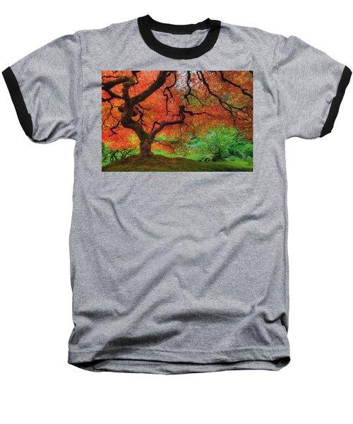 Japanese Maple Tree In Autumn Baseball T-Shirt